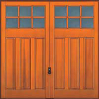 Hormann Series 2000 timber up and over garage doors Style 2122 Middleton